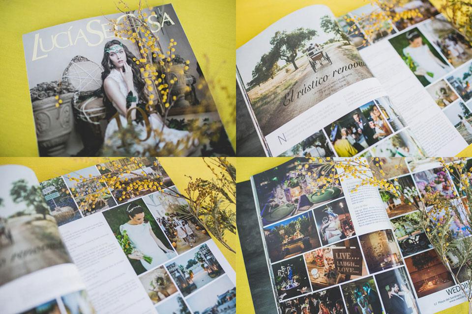 Publicaciones sobre bodas y editoriales del fotógrafo patricia grande