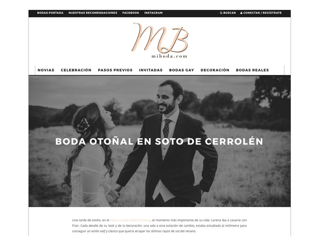 Publicaciones sobre bodas y editoriales del fotógrafo patricia grande en el blog miboda