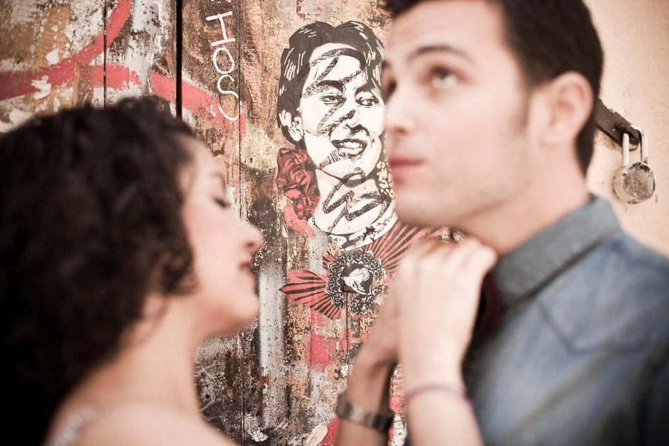 fotógrafo de bodas naturales en madrid, preboda en malasaña